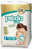 PredoBaby Newborn, small pack 13ks