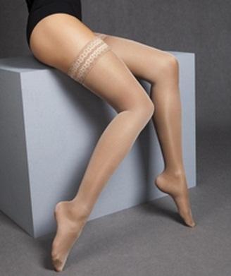 MAXIS NEW RELAX 140 DEN, stehenní punčochy | černá | S