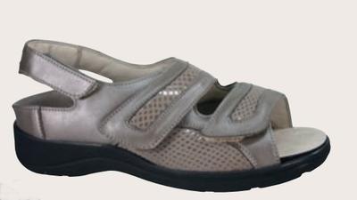 Dámské sandály Varomed Berlin, šedá | 38,5 | H 1/2 - 1