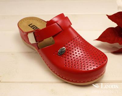 leons 900 v.40 zdrav.obuv červená, Velikost 40 - 1