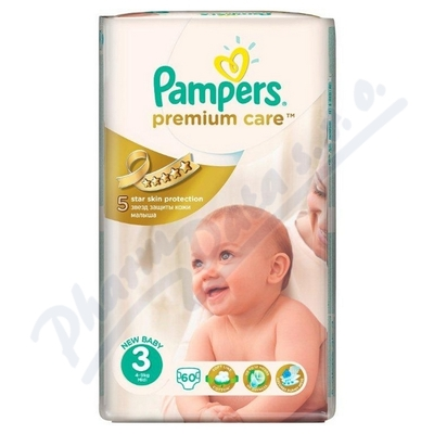 PAMPERS Premium Care 3 Midi 4-9kg 60ks