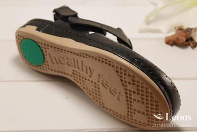 leons 950 v.38 zdrav.obuv černá, Velikost 38 - 2
