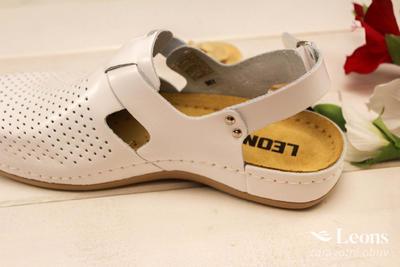 leons 950 v.37 zdrav. obuv bílá, Velikost 37 - 2