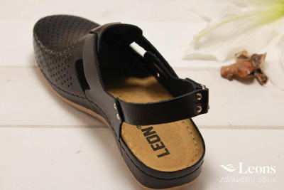 leons 950 v.37 zdrav.obuv černá, Velikost 37 - 3