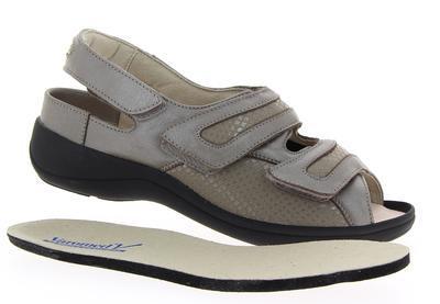 Dámské sandály Varomed Berlin, šedá | 35 | H 1/2 - 6
