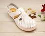 leons 951 v.40 zdrav. obuv bílá s páskem,  Velikost 40